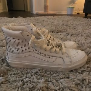 Madewell x Vans White Leather Hi-Tops - Size 8.5